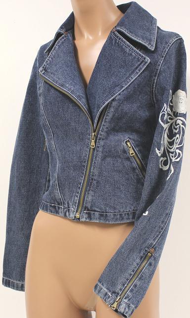 sasch damen jeansblazer mit stickereien kurz blazer jeansjacke neu gr xs ebay. Black Bedroom Furniture Sets. Home Design Ideas